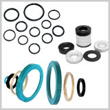 O-Rings, Quad Seals, Metal Bonded Components, Custom Molded Components, Mounts, Bellows, Washers / Gaskets, Backup Rings, Valve Seats, Mechanical Seals, Stem Seals, Seals, Valve Sleeves, Envelope Gasket, Wear Rings, Chevron Packing, Custom Component, Diaphragms