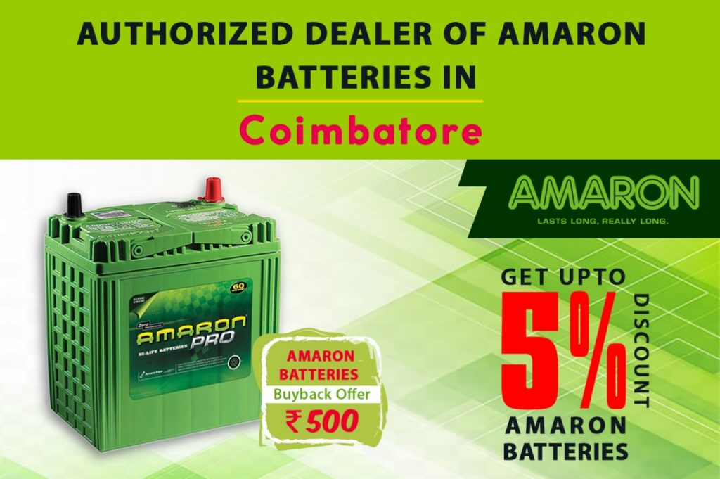 Car Battery Dealer In Coimbatore, Dealer Of Amaron Car Batteries In Coimbatore